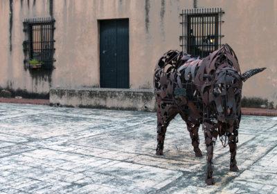 Opera d'arte nella città coloniale